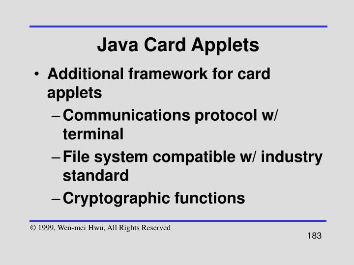 Java Card Applets
