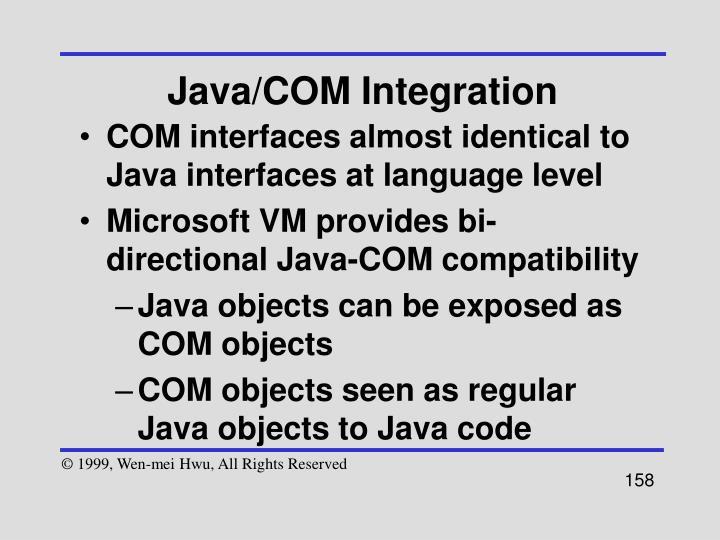 Java/COM Integration
