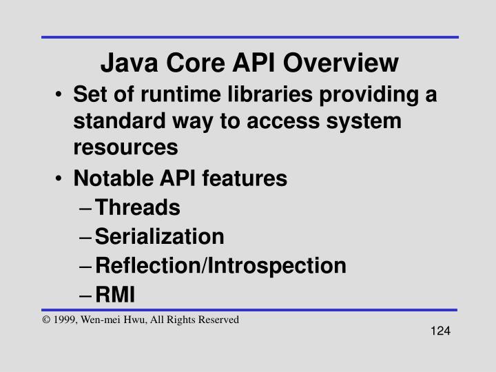 Java Core API Overview