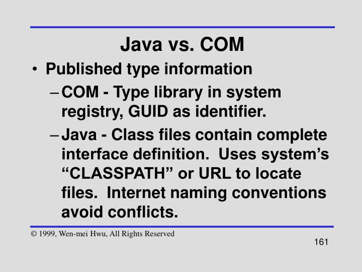 Java vs. COM