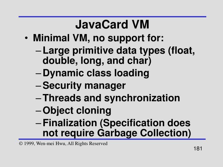 JavaCard VM