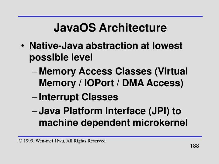 JavaOS Architecture