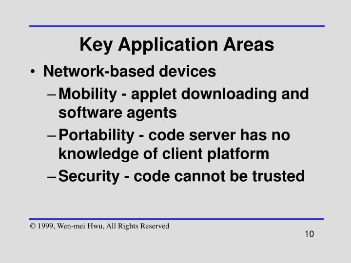 Key Application Areas