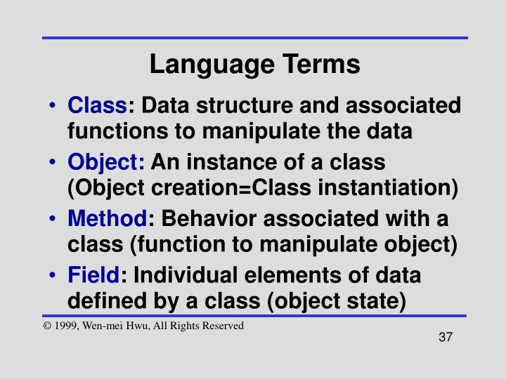 Language Terms