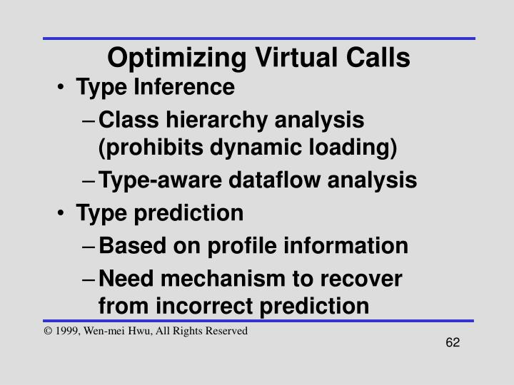 Optimizing Virtual Calls