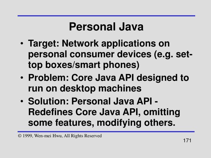 Personal Java