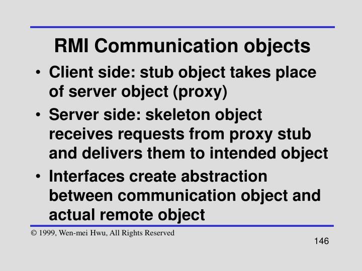 RMI Communication objects