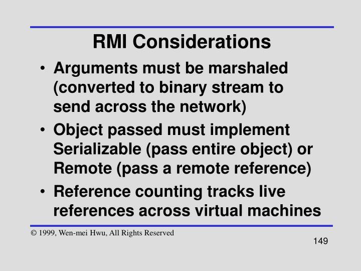 RMI Considerations