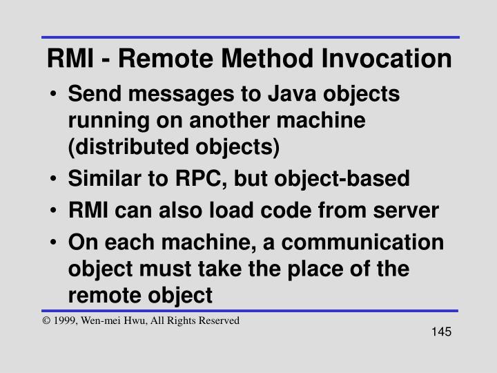 RMI - Remote Method Invocation