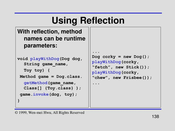 Using Reflection