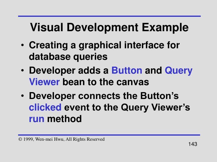 Visual Development Example