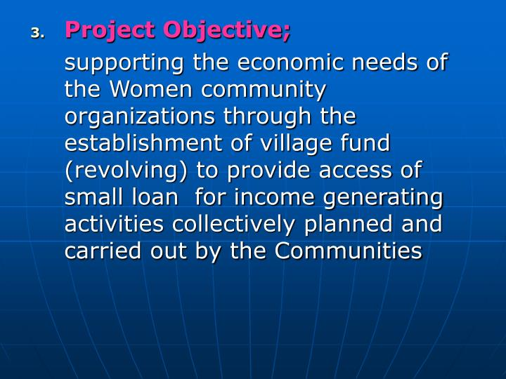 Project Objective;