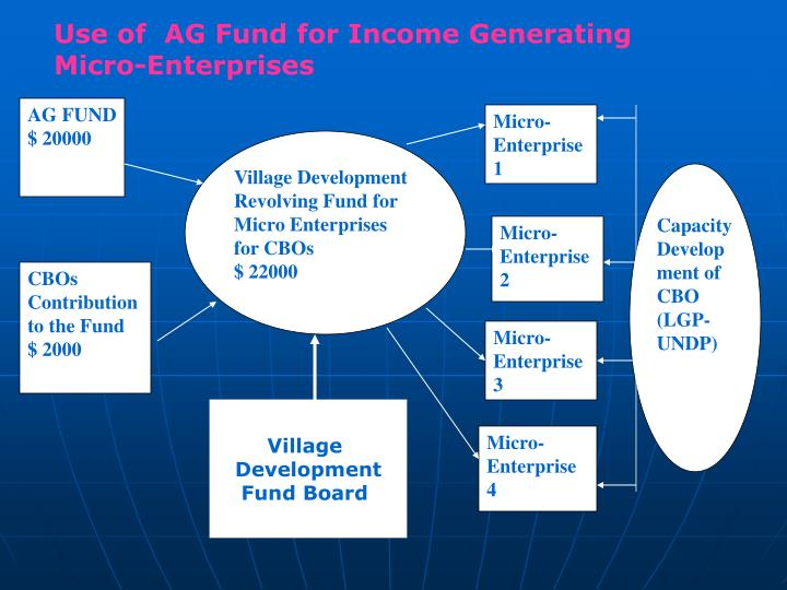 Use of  AG Fund for Income Generating Micro-Enterprises