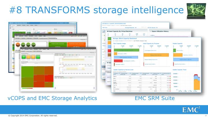 #8 TRANSFORMS storage intelligence