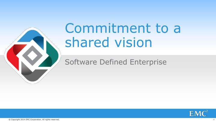 Commitment to a shared vision