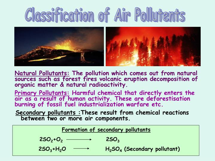 Classification of Air Pollutents