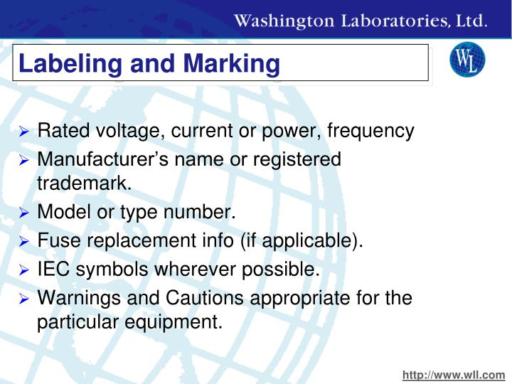 Labeling and Marking