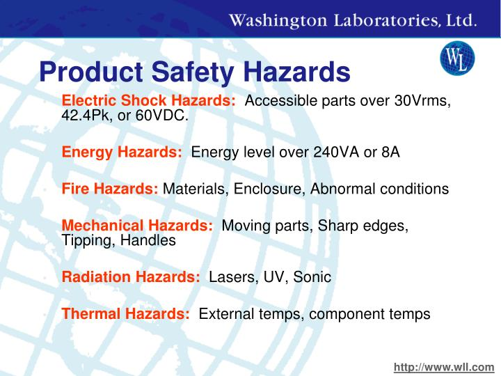 Product Safety Hazards