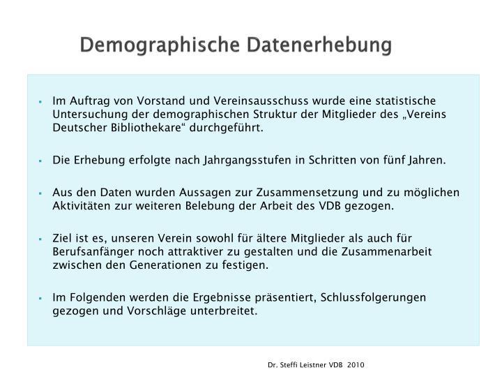 Demographische Datenerhebung