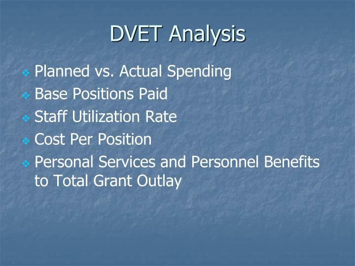 DVET Analysis