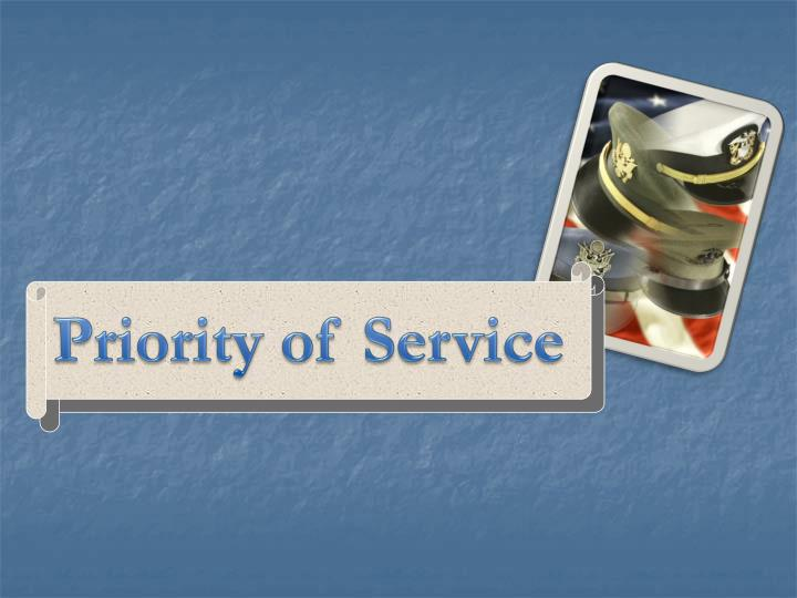 Priority of Service