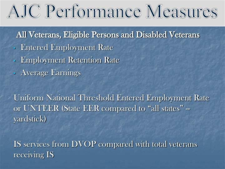 AJC Performance Measures