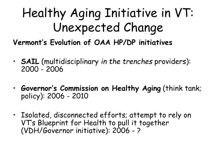 Healthy Aging Initiative in VT: