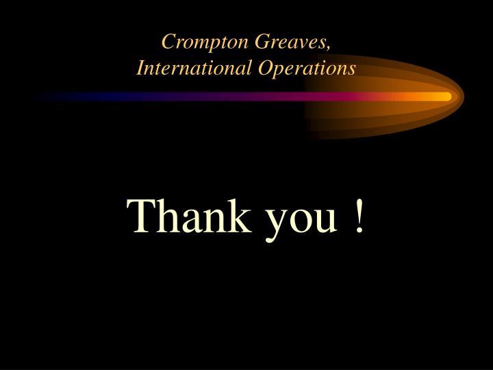 Crompton Greaves,
