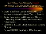 low voltage panel products controls digicon timers and controllers cont