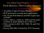 low voltage panel products controls push buttons pilot lights stations1