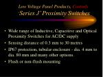 low voltage panel products controls series j proximity switches