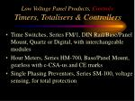 low voltage panel products controls timers totalisers controllers1