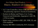 low voltage panel products controls timers totalisers controllers2