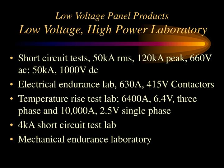 Low Voltage Panel Products