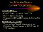 low voltage panel products measurement protection and testing current transformers cont