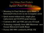 low voltage panel products measurement protection and testing square panel meters cont