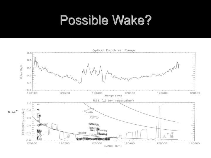 Possible Wake?