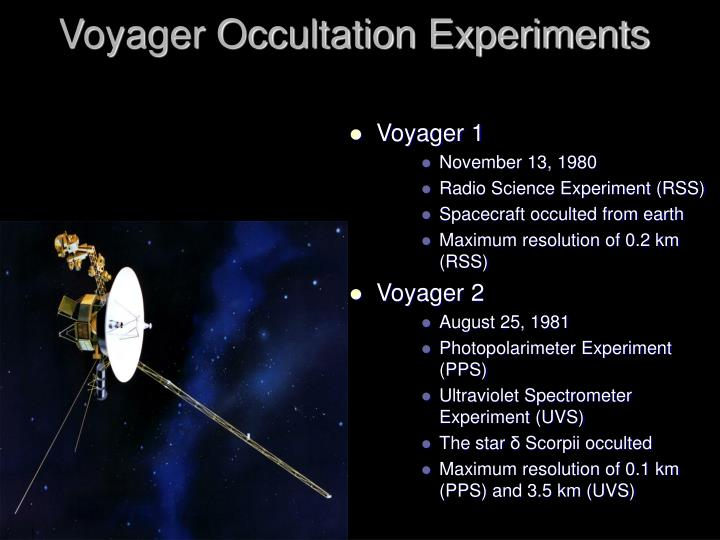 Voyager Occultation Experiments