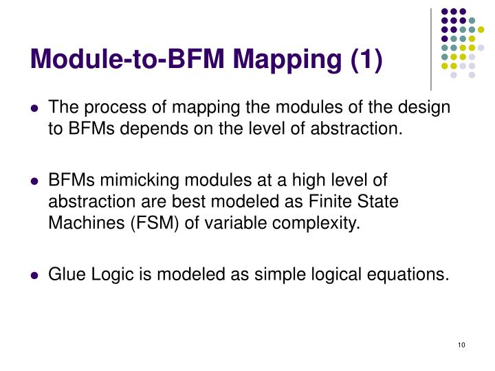 Module-to-BFM Mapping (1)