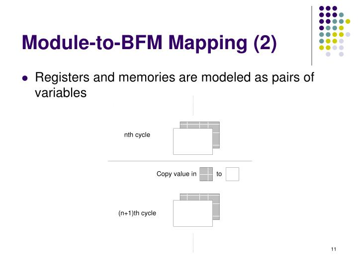 Module-to-BFM Mapping (2)