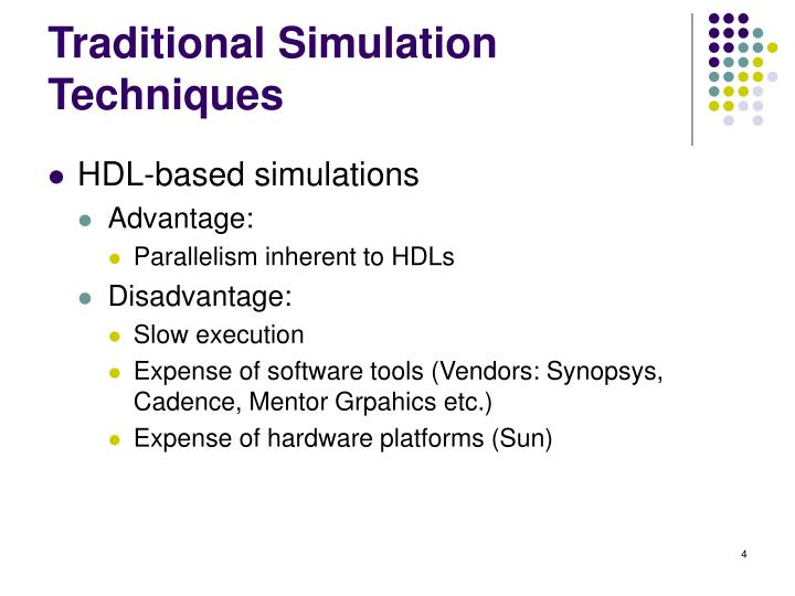 Traditional Simulation Techniques