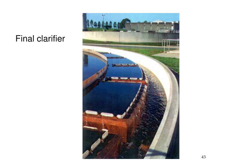 Final clarifier