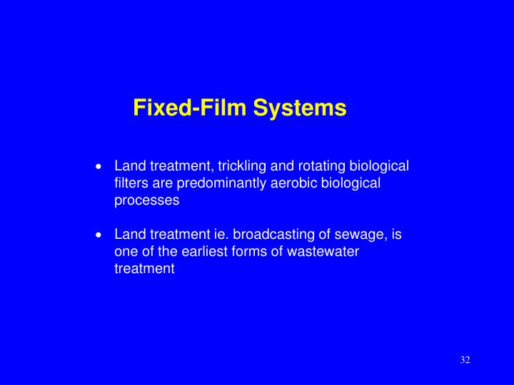 Fixed-Film Systems