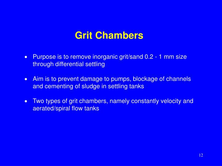 Grit Chambers