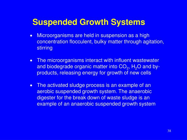 Suspended Growth Systems