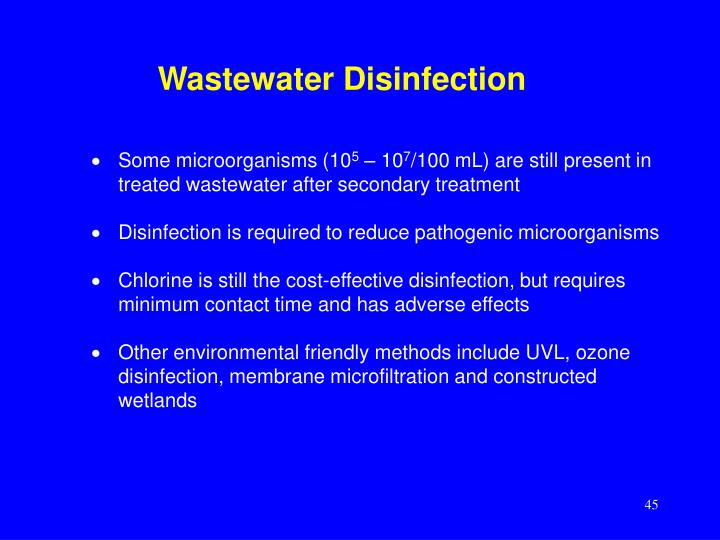 Wastewater Disinfection