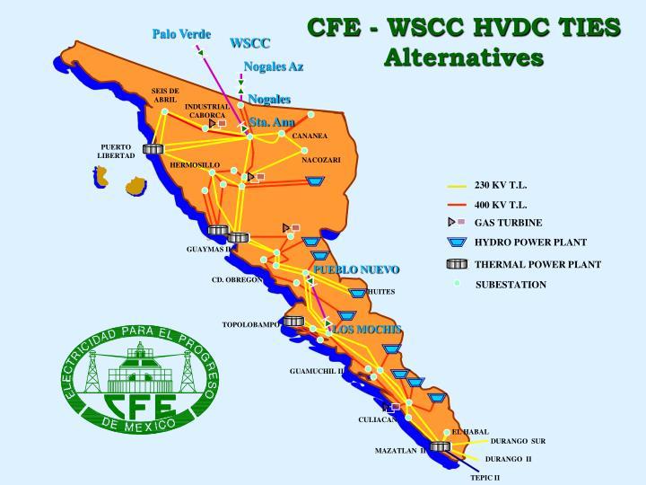 CFE - WSCC HVDC TIES