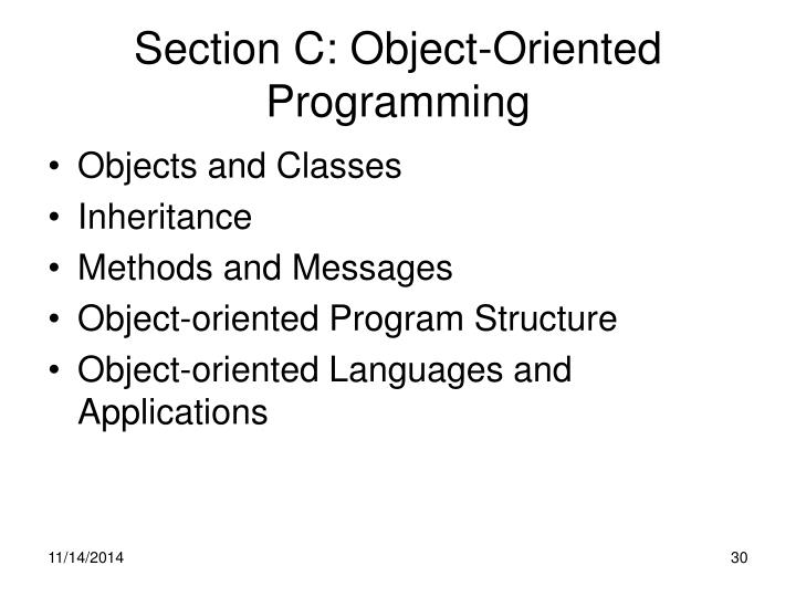 Section C: Object-Oriented Programming