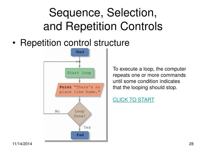 Sequence, Selection,