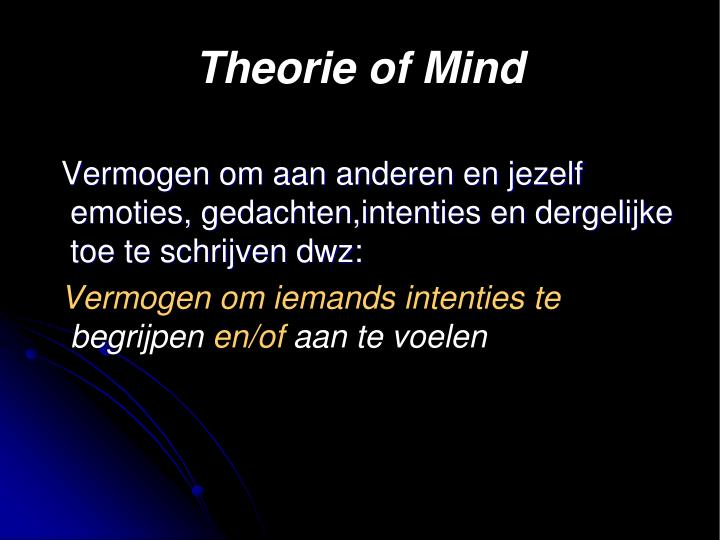 Theorie of Mind